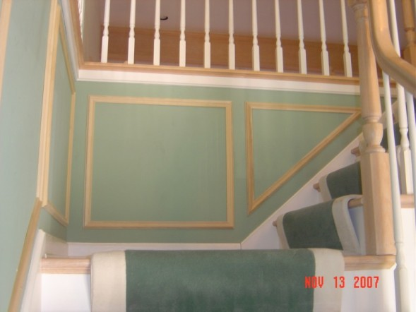 Stair Case with shadow boxes (before final paint) - Trim ...